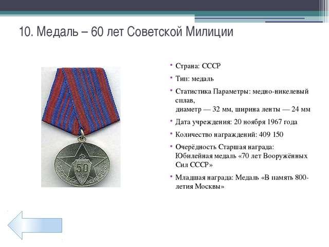 22. Медаль – За победу над Германией Страна: СССР Тип: медаль Кому вручается:...