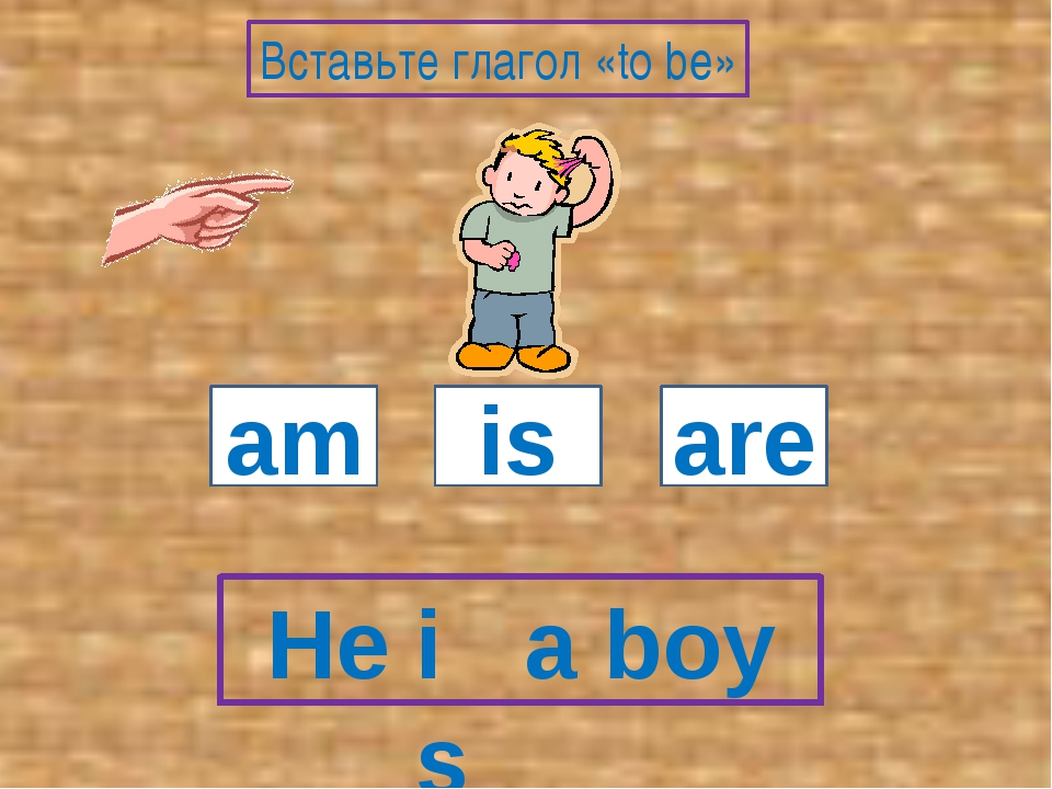 He a boy am is are Вставьте глагол «to be» is