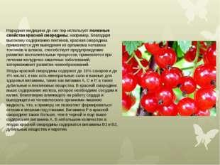 Народная медицина до сих пор используетполезные свойства красной смородины,