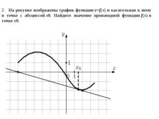 2. На рисунке изображены график функцииy=f(x)и касательная к нему в точке с
