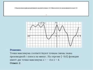 18. На рисунке изображен график производной функции f(x), определенной на ин