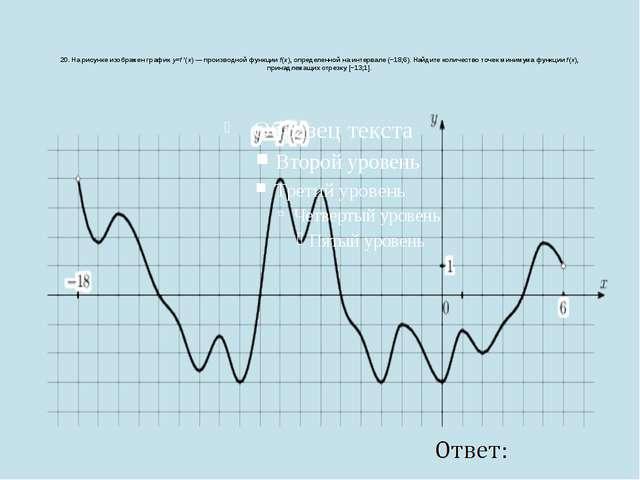 20. На рисунке изображен графикy=f ′(x)— производной функцииf(x), определ...