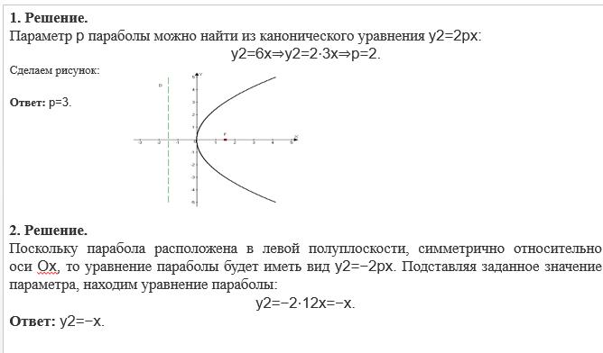 Задача и решение составить уравнение параболы задачи паскаль абс с решением