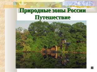 Природные зоны России Путешествие