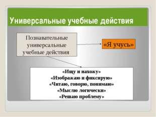 Познавательные универсальные учебные действия «Ищу и нахожу» «Изображаю и фи