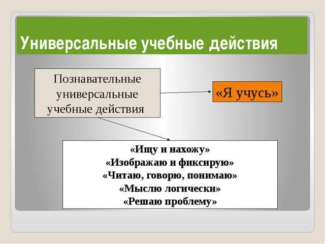 Познавательные универсальные учебные действия «Ищу и нахожу» «Изображаю и фи...