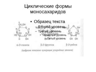 Циклические формы моносахаридов