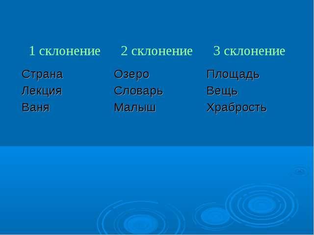 1 склонение2 склонение3 склонение Страна Лекция ВаняОзеро Словарь МалышПл...