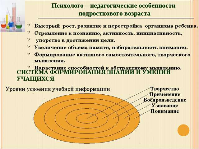 СИСТЕМА ФОРМИРОВАНИЯ ЗНАНИЙ И УМЕНИЙ УЧАЩИХСЯ Уровни усвоения учебной информа...