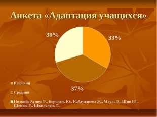 Анкета «Адаптация учащихся»