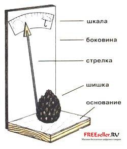 Как сделать барометр из еловой шишки