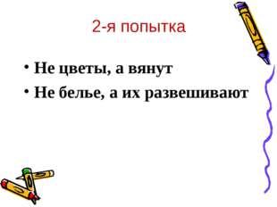 2-я попытка Не цветы, а вянут Не белье, а их развешивают