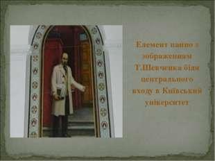 Елемент панно з зображенням Т.Шевченка біля центрального входу в Київський ун