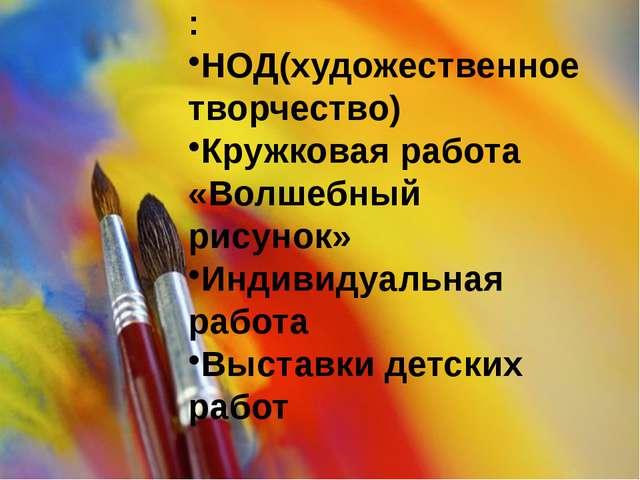 Пути взаимодействия : НОД(художественное творчество) Кружковая работа «Волшеб...