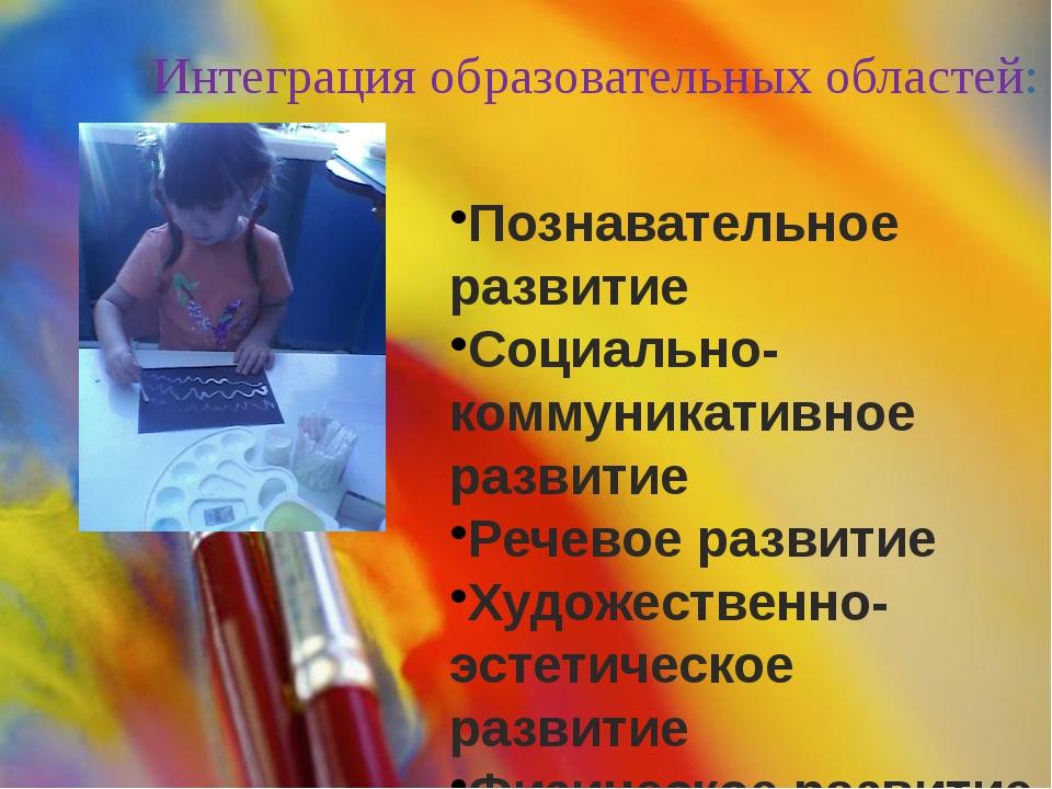 Интеграция образовательных областей: Познавательное развитие Социально-коммун...