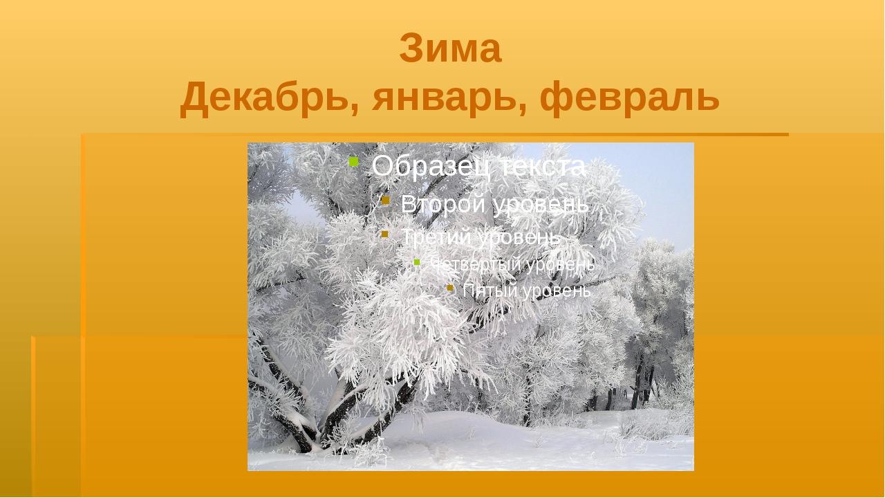 Зима Декабрь, январь, февраль