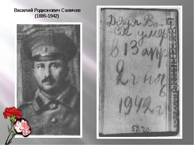 Василий Родионович Савичев (1885-1942)