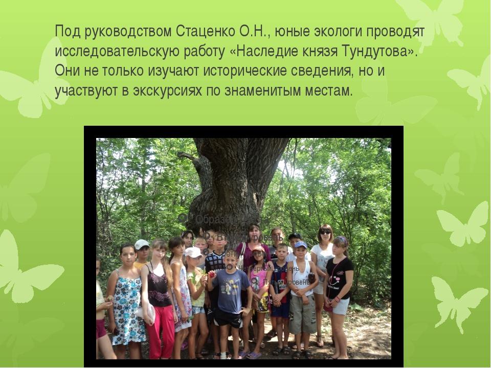 Под руководством Стаценко О.Н., юные экологи проводят исследовательскую работ...
