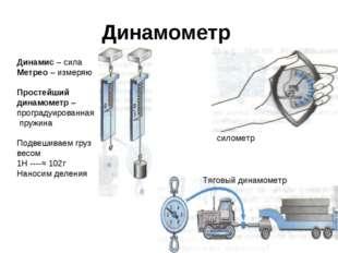 Динамометр Динамис – сила Метрео – измеряю Простейший динамометр – проградуир