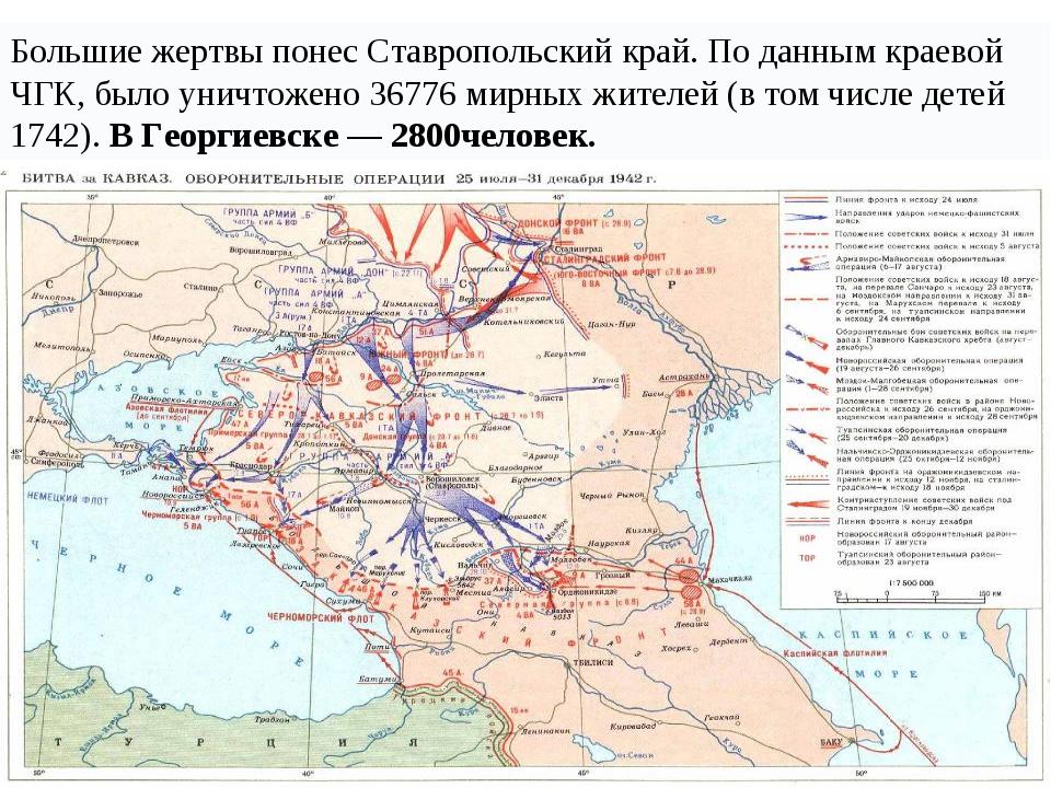 Большие жертвы понес Ставропольский край. По данным краевой ЧГК, было уничтож...
