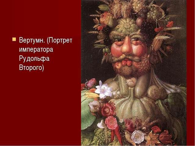 Вертумн. (Портрет императора Рудольфа Второго)