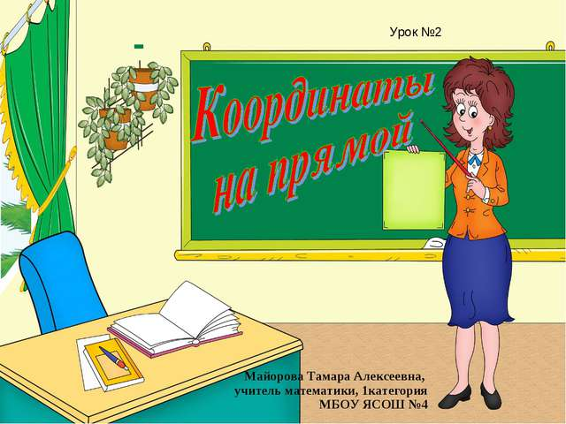 Урок №2 Майорова Тамара Алексеевна, учитель математики, 1категория МБОУ ЯСОШ №4