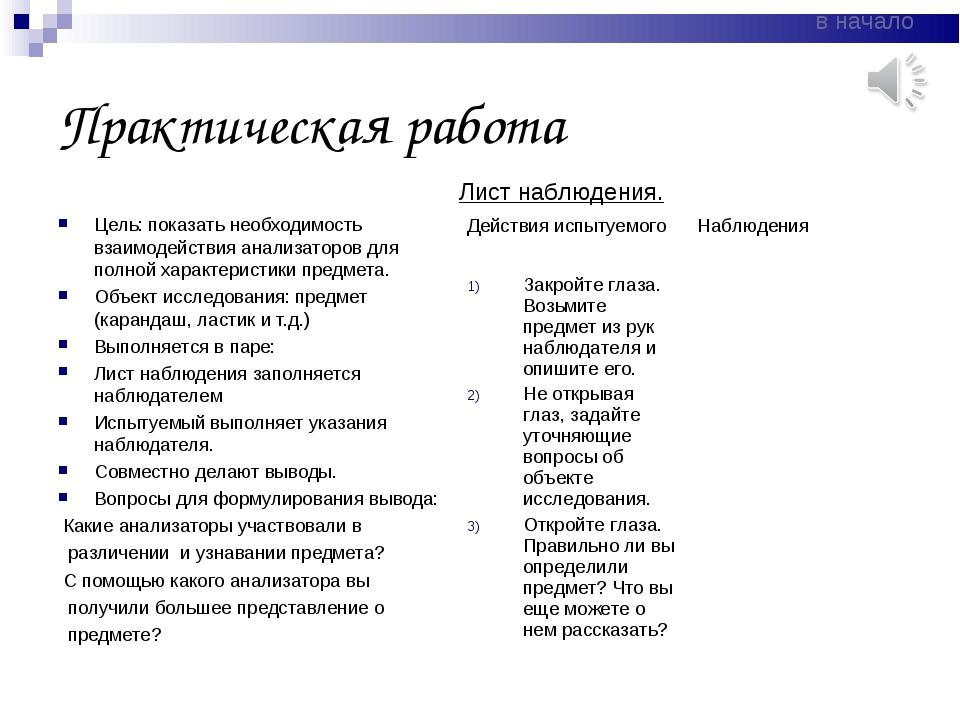 Практическая работа Цель: показать необходимость взаимодействия анализаторов...