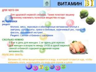 ВИТАМИН B1 ДЛЯ ЧЕГО ОН ИСТОЧНИКИ рецепт СКОЛЬКО НУЖНО ПОЛЕЗНО ЗНАТЬ Для здоро