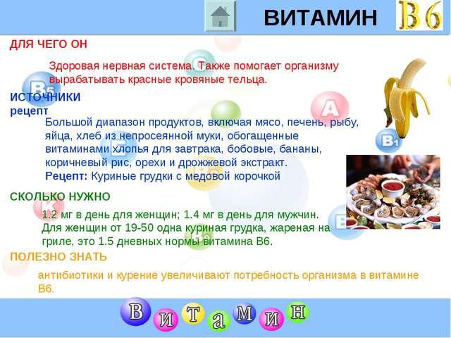 ВИТАМИН B6 ДЛЯ ЧЕГО ОН ИСТОЧНИКИ рецепт СКОЛЬКО НУЖНО ПОЛЕЗНО ЗНАТЬ Здоровая...