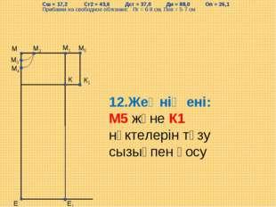 М5 Е М1 Сш = 17,2 Сг2 = 43,6 Дст = 37,0 Ди = 88,0 Оп = 26,1 Прибавки на свобо