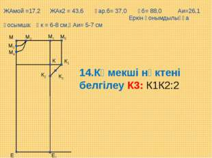 М5 Е М1 М Е1 М2 М3 М4 К К1 К2 К3 14.Көмекші нүктені белгілеу К3: К1К2:2 ЖАмой