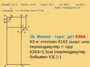 М5 Е М1 М Е1 М2 М3 М4 К К1 К2 К3 К4 15. Иінннің тереңдігі К3К4 : К3 нүктесіне