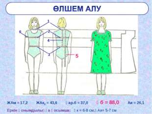 ЖАм = 17,2 ЖАк2 = 43,6 Ұар.б = 37,0 Ұб = 88,0 Аи = 26,1 Еркін қонымдылыққа қо