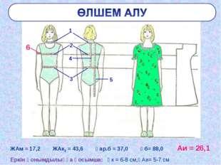 ЖАм = 17,2 ЖАк2 = 43,6 Ұар.б = 37,0 Ұб= 88,0 Аи = 26,1 Еркін қонымдылыққа қос