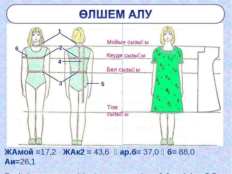 ЖАмой =17,2 ЖАк2 = 43,6 Ұар.б= 37,0 Ұб= 88,0 Аи=26,1 Еркін қонымдылыққа қосым...