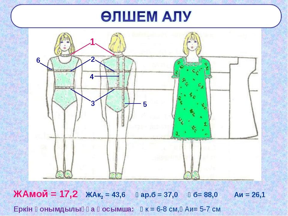 ЖАмой = 17,2 ЖАк2 = 43,6 Ұар.б = 37,0 Ұб= 88,0 Аи = 26,1 Еркін қонымдылыққа қ...
