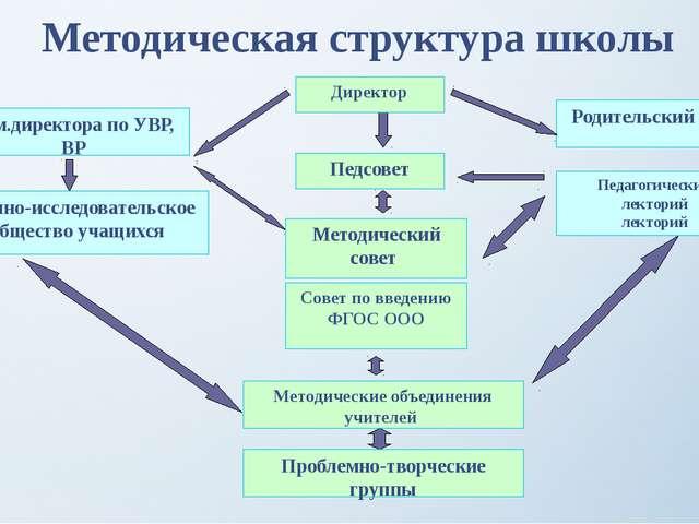Методическая структура школы Педсовет Методический совет Методические объедин...