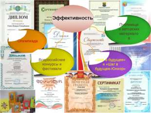Эффективность Олимпиада «Шаг в будущее» и «Шаг в будущее-Юниор» Всероссийски