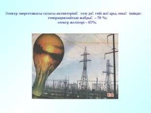 Электр энергетикасы саласы активтерінің тозу деңгейі жоғары, оның ішінде: