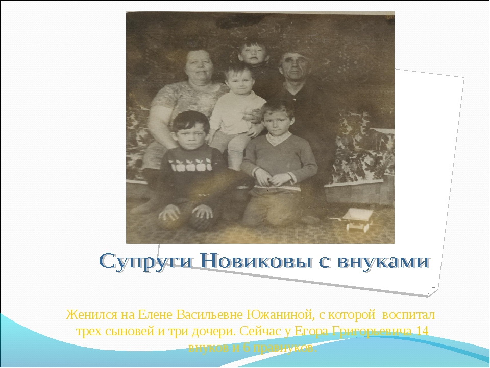 Женился на Елене Васильевне Южаниной, с которой воспитал трех сыновей и три д...