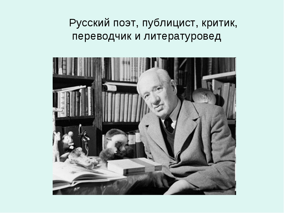 Русский поэт, публицист, критик, переводчик и литературовед