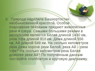 6. Природа наделила Башкортостан необыкновенной красотой. Особое очарование п