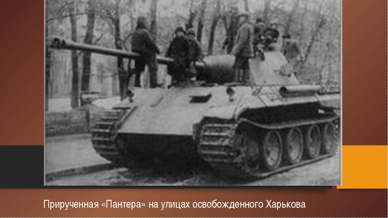 Прирученная «Пантера» на улицах освобожденного Харькова