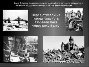 Всего 2 месяца оккупации прошло, а город было не узнать: развалины и пепелищ