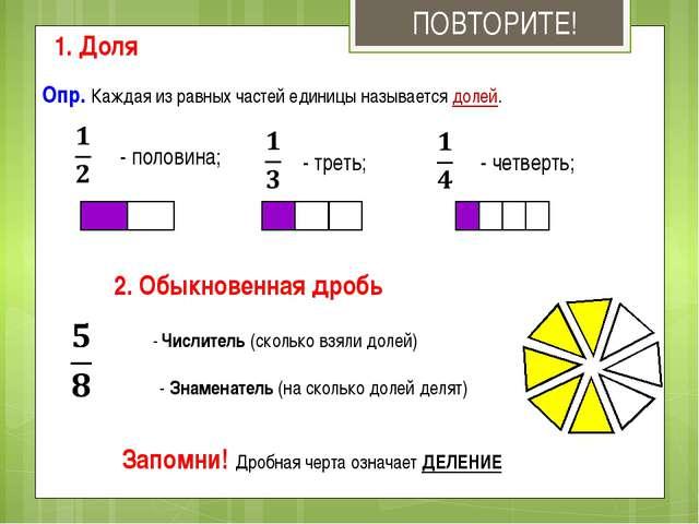 Анализ урока по математике по теме доли 3 класс