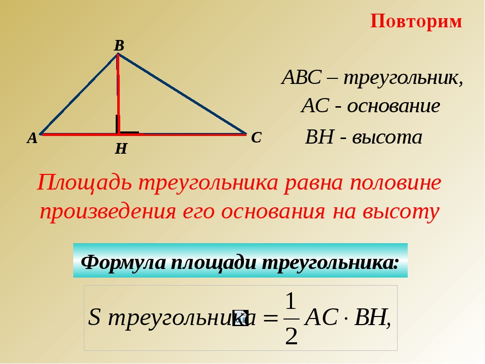 Вычисли площадь каждого прямоугольного треугольника?