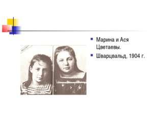 Марина и Ася Цветаевы. Шварцвальд, 1904 г.