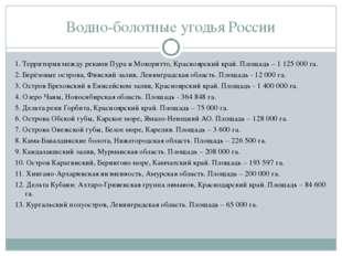 Водно-болотные угодья России 1. Территория между реками Пура и Мокоритто, Кра