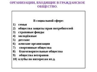 Гражданское общество и государство Линии сравнения Гражданское общество Госуд