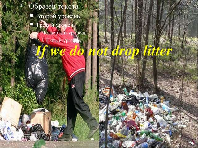 If we do not drop litter